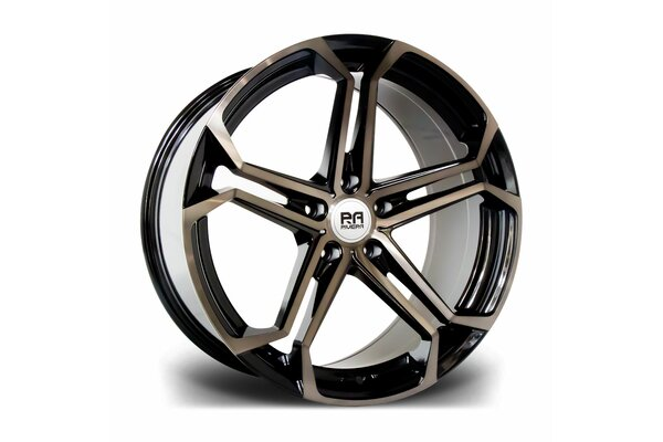 RIVIERA ATLAS 20X8.5 5X120 ET 35 72.6 BLACK POLISHED DARK...