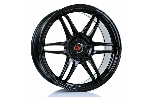 2FORGE ZF5 | 5X100 | 18x8 | ET 15 TO 35 | 76 | GLOSS BLACK