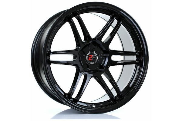 2FORGE ZF5 | 5X100 | 18x10 | ET 0 TO 35 | 76 | GLOSS BLACK