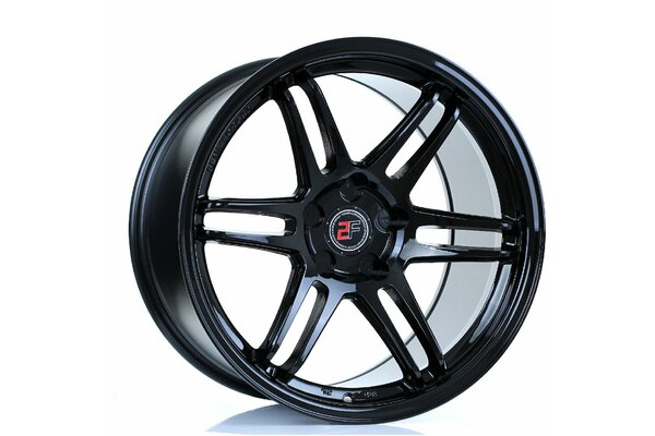 2FORGE ZF5 | 5X100 | 18x11 | ET 15 TO 50 | 76 | GLOSS BLACK