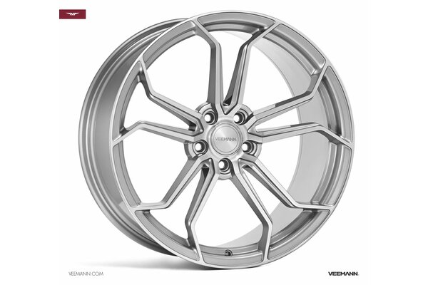 Veemann VC632|20x10|5x120|ET45|QUARTZ-SILVER-MACHINED|DEEP-CONCAVE