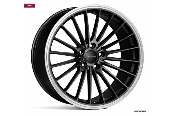 Veemann V-FS36|20x10|5x112|ET48|BLACK-MACHINED-LIP|DEEP-CONCAVE
