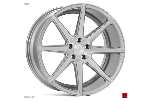 Ispiri Wheels ISR8|19x9.5|5x120|ET43|SATIN-SILVER-MACHINED|DEEP-CONCAVE