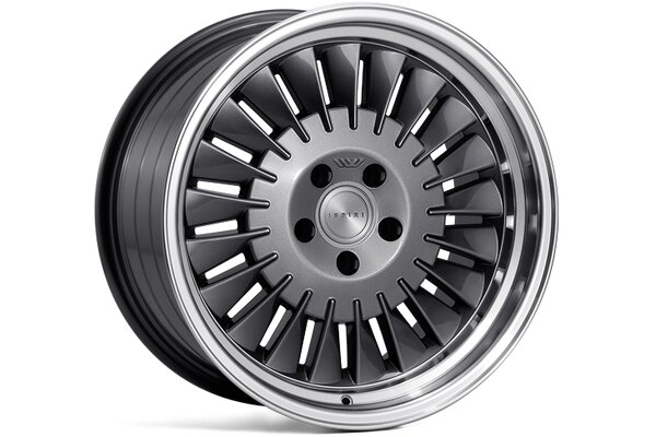 Ispiri Wheels CSR1D|18x8.5|5x100|ET35|CARBON-GRAPHITE|RIGHT-SINGLE-STEPPED-LIP