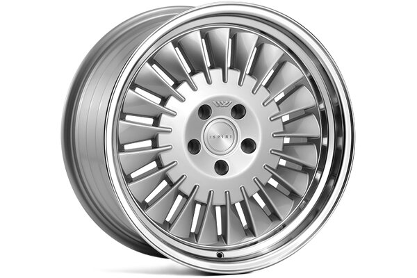 Ispiri Wheels CSR1D|18x9.5|5x100|ET35|PURE-SILVER|LEFT-DOUBLE-STEPPED-LIP