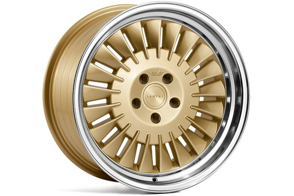 Ispiri Wheels CSR1D|18x9.5|5x120|ET40|VINTAGE-GOLD|RIGHT-DOUBLE-STEPPED-LIP