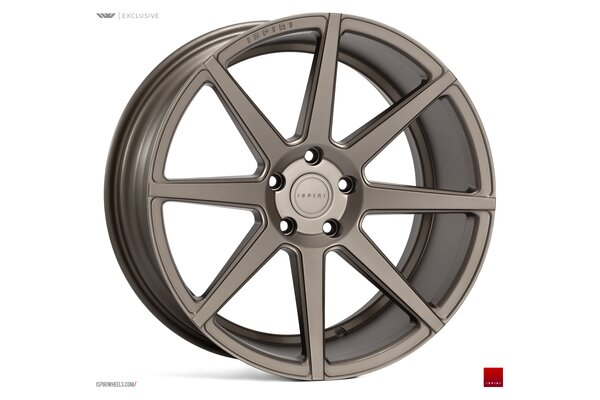 Ispiri Wheels ISR8|19x8.5|5x120|ET35|MATT-CARBON-BRONZE-IW-ExCLUSIVE|PERFORMANCE-CONCAVE