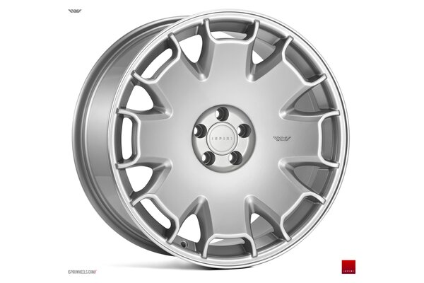 Ispiri Wheels CSR2|19x8.5|5x120|ET35|PURE-SILVER-POLISHED-LIP|STANDARD-CONCAVE