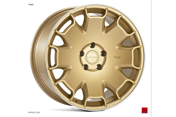 Ispiri Wheels CSR2|19x8.5|5x112|ET42|VINTAGE-GOLD-POLISHED-LIP|STANDARD-CONCAVE
