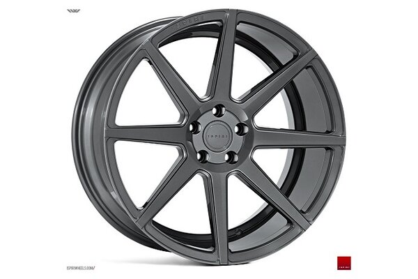 Ispiri Wheels ISR8|20x8.5|5x112|ET45|CARBON-GRAPHITE|PERFORMANCE-CONCAVE